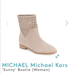 "Michael Kors ""Sunny"" Booties Gray color Size 7"
